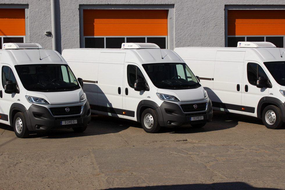 Pojazdy dostawcze chłodnie lub mroźnie od L2H2 do L4H2 typu Fiat Ducato